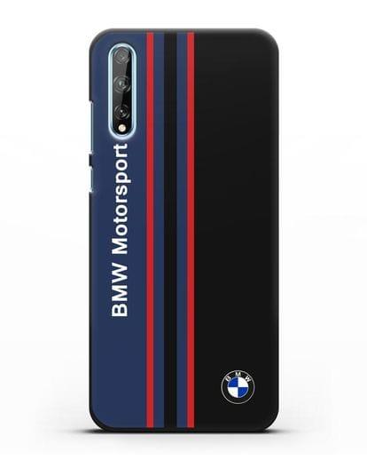 Чехол с надписью BMW Motorsport силикон черный для Huawei Y8P