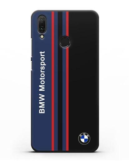 Чехол с надписью BMW Motorsport силикон черный для Huawei Y9 2019