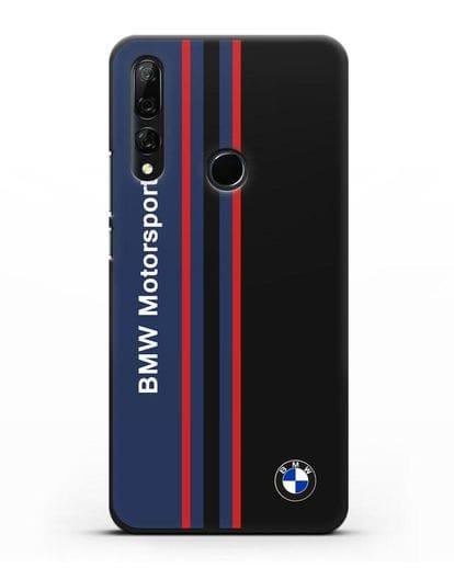 Чехол с надписью BMW Motorsport силикон черный для Huawei Y9 Prime 2019
