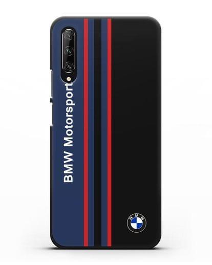 Чехол с надписью BMW Motorsport силикон черный для Huawei Y9s