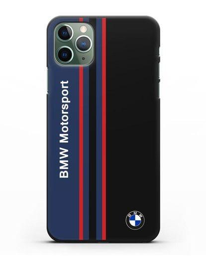 Чехол с надписью BMW Motorsport силикон черный для iPhone 11 Pro