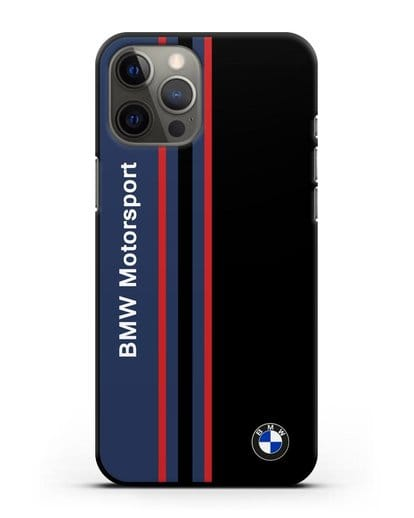 Чехол с надписью BMW Motorsport силикон черный для iPhone 12 Pro Max