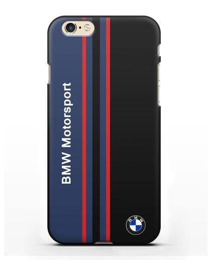 Чехол с надписью BMW Motorsport силикон черный для iPhone 6