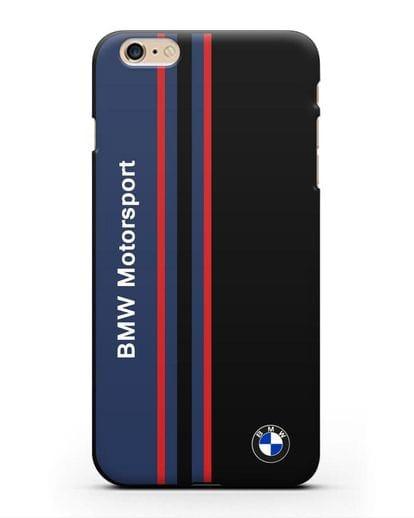 Чехол с надписью BMW Motorsport силикон черный для iPhone 6 Plus