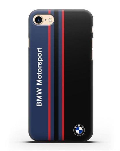 Чехол с надписью BMW Motorsport силикон черный для iPhone 8