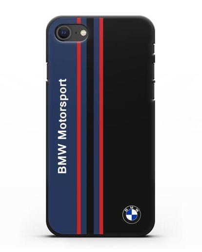 Чехол с надписью BMW Motorsport силикон черный для iPhone SE 2020