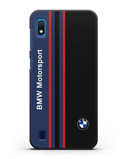 Чехол с надписью BMW Motorsport силикон черный для Samsung Galaxy A10 [SM-A105F]