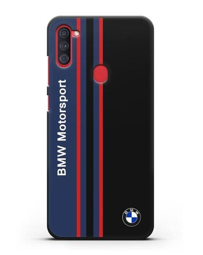 Чехол с надписью BMW Motorsport силикон черный для Samsung Galaxy A11 [SM-A115F]