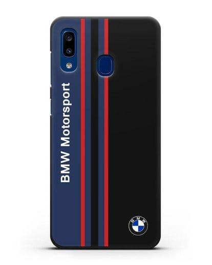 Чехол с надписью BMW Motorsport силикон черный для Samsung Galaxy A20 [SM-A205FN]