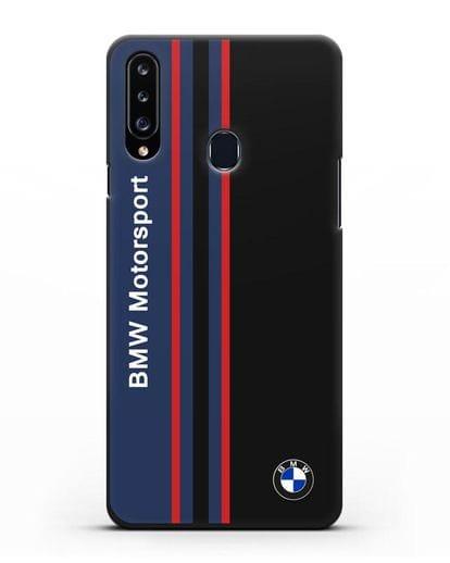 Чехол с надписью BMW Motorsport силикон черный для Samsung Galaxy A20s [SM-A207FN]