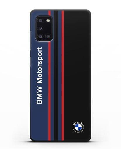 Чехол с надписью BMW Motorsport силикон черный для Samsung Galaxy A31 [SM-A315F]