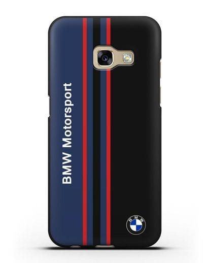 Чехол с надписью BMW Motorsport силикон черный для Samsung Galaxy A3 2017 [SM-A320F]