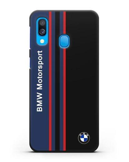 Чехол с надписью BMW Motorsport силикон черный для Samsung Galaxy A40 [SM-A405F]