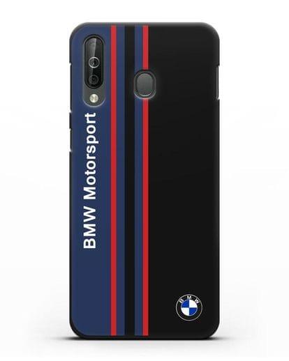 Чехол с надписью BMW Motorsport силикон черный для Samsung Galaxy A40s [SM-A507FN]