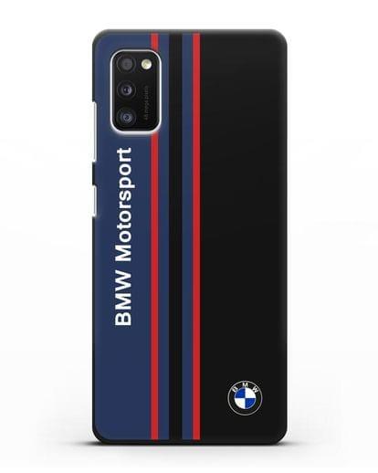 Чехол с надписью BMW Motorsport силикон черный для Samsung Galaxy A41 [SM-A415F]