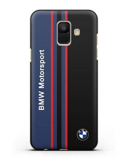 Чехол с надписью BMW Motorsport силикон черный для Samsung Galaxy A6 2018 [SM-A600F]