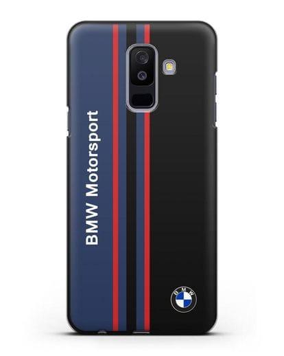 Чехол с надписью BMW Motorsport силикон черный для Samsung Galaxy A6 Plus 2018 [SM-A605F]