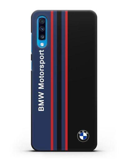 Чехол с надписью BMW Motorsport силикон черный для Samsung Galaxy A70 [SM-A705F]