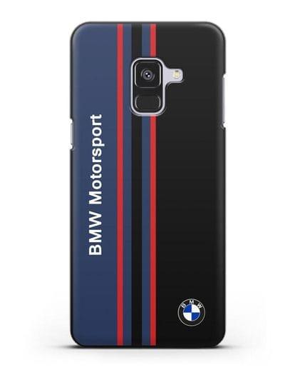 Чехол с надписью BMW Motorsport силикон черный для Samsung Galaxy A8 [SM-A530F]