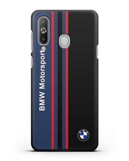 Чехол с надписью BMW Motorsport силикон черный для Samsung Galaxy A8s [SM-G8870]