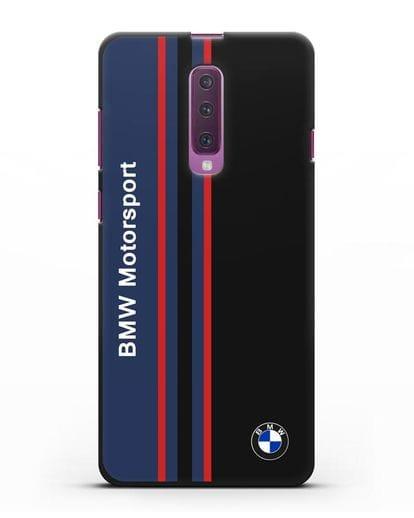 Чехол с надписью BMW Motorsport силикон черный для Samsung Galaxy A90 [SM-A908N]