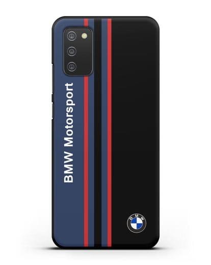Чехол с надписью BMW Motorsport силикон черный для Samsung Galaxy A02s [SM-A025F]