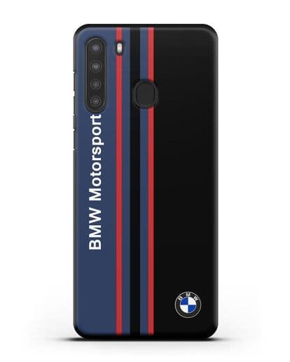 Чехол с надписью BMW Motorsport силикон черный для Samsung Galaxy A21 [SM-A215]