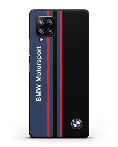 Чехол с надписью BMW Motorsport силикон черный для Samsung Galaxy A42 [SM-A426B]