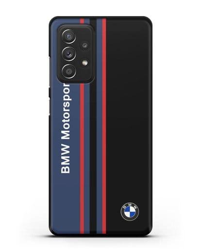 Чехол с надписью BMW Motorsport силикон черный для Samsung Galaxy A52 5G [SM-A5260]