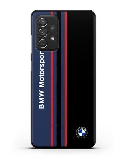 Чехол с надписью BMW Motorsport силикон черный для Samsung Galaxy A72 [SM-A725F]