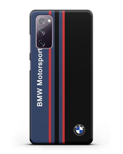 Чехол с надписью BMW Motorsport силикон черный для Samsung Galaxy S20 FE [SM-G780F]