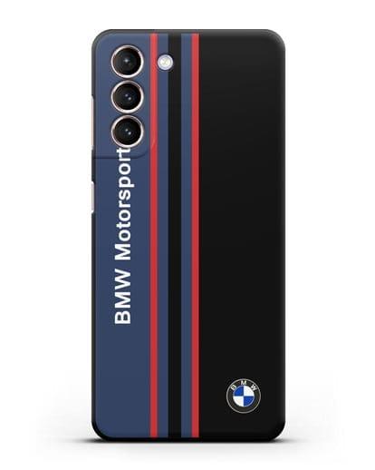 Чехол с надписью BMW Motorsport силикон черный для Samsung Galaxy S21 [SM-G991B]