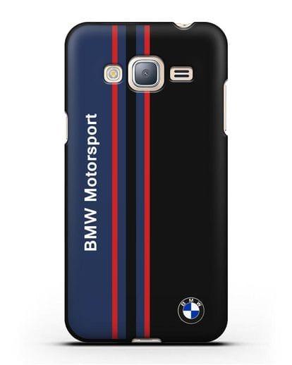 Чехол с надписью BMW Motorsport силикон черный для Samsung Galaxy J3 2016 [SM-J320F]