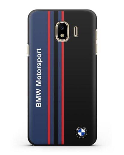 Чехол с надписью BMW Motorsport силикон черный для Samsung Galaxy J4 2018 [SM-J400F]