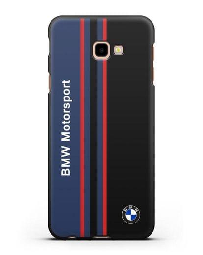 Чехол с надписью BMW Motorsport силикон черный для Samsung Galaxy J4 Plus [SM-J415]