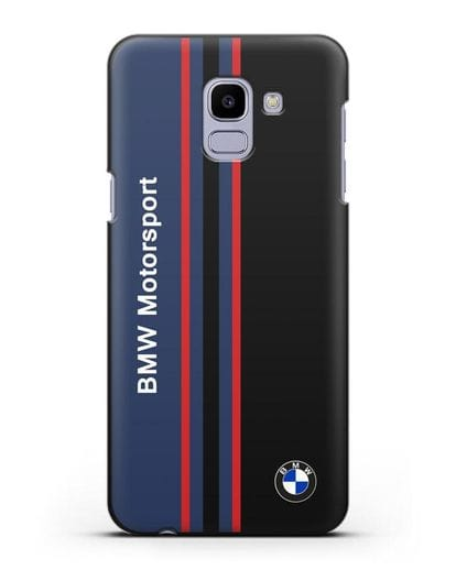 Чехол с надписью BMW Motorsport силикон черный для Samsung Galaxy J6 2018 [SM-J600F]
