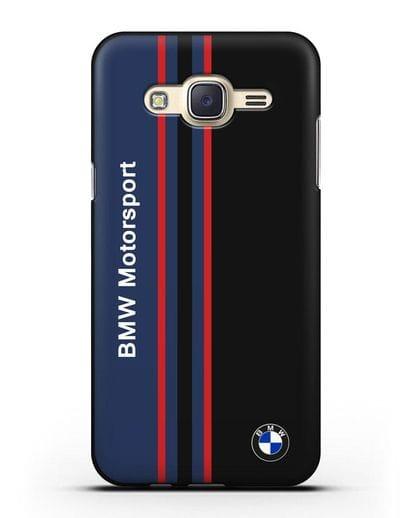 Чехол с надписью BMW Motorsport силикон черный для Samsung Galaxy J7 2015 [SM-J700H]