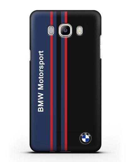 Чехол с надписью BMW Motorsport силикон черный для Samsung Galaxy J7 2016 [SM-J710F]