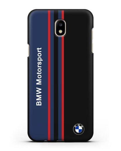 Чехол с надписью BMW Motorsport силикон черный для Samsung Galaxy J7 2017 [SM-J720F]