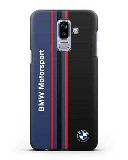 Чехол с надписью BMW Motorsport силикон черный для Samsung Galaxy J8 2018 [SM-J810F]