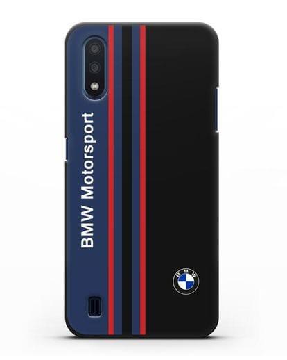 Чехол с надписью BMW Motorsport силикон черный для Samsung Galaxy M01 [SM-M015F]