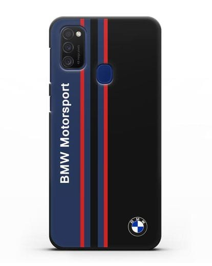 Чехол с надписью BMW Motorsport силикон черный для Samsung Galaxy M21 [SM-M215F]