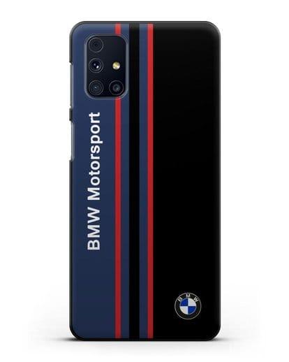 Чехол с надписью BMW Motorsport силикон черный для Samsung Galaxy M51 [SM-M515F]