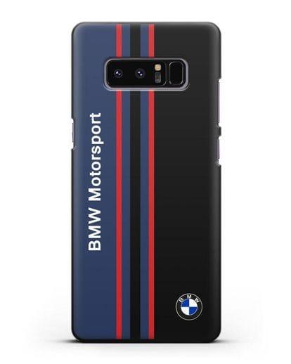 Чехол с надписью BMW Motorsport силикон черный для Samsung Galaxy Note 8 [N950F]