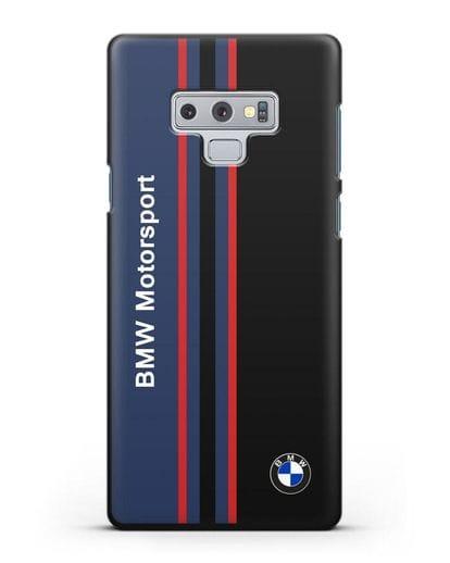 Чехол с надписью BMW Motorsport силикон черный для Samsung Galaxy Note 9 [N960F]