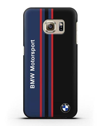 Чехол с надписью BMW Motorsport силикон черный для Samsung Galaxy S6 Edge [SM-G925F]