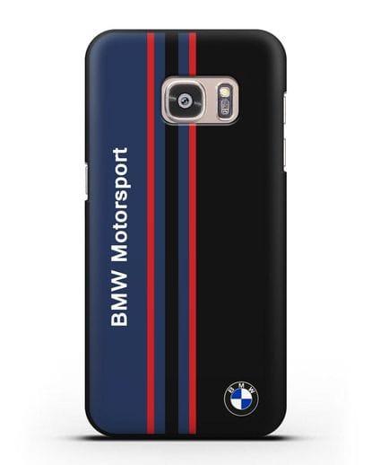 Чехол с надписью BMW Motorsport силикон черный для Samsung Galaxy S7 Edge [SM-G935F]