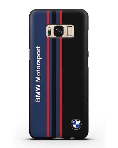 Чехол с надписью BMW Motorsport силикон черный для Samsung Galaxy S8 Plus [SM-G955F]