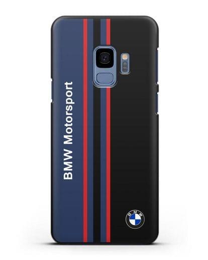 Чехол с надписью BMW Motorsport силикон черный для Samsung Galaxy S9 [SM-G960F]