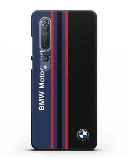 Чехол с надписью BMW Motorsport силикон черный для Xiaomi Mi 10 Pro